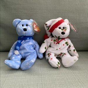 Beanie Baby Christmas Bear 1998 1999 Holiday Teddy
